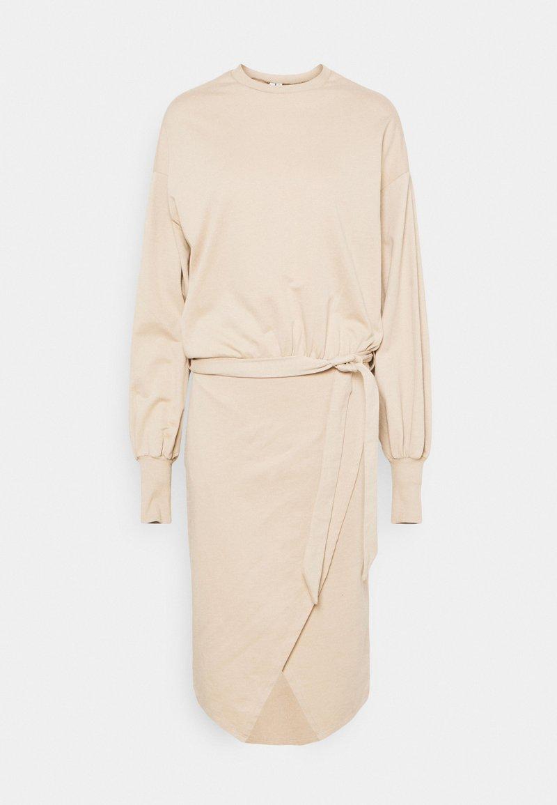Nly by Nelly - CHUNKY TIE DRESS - Day dress - beige