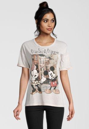 DISNEY MICKEY&MINNIE - Print T-shirt - white
