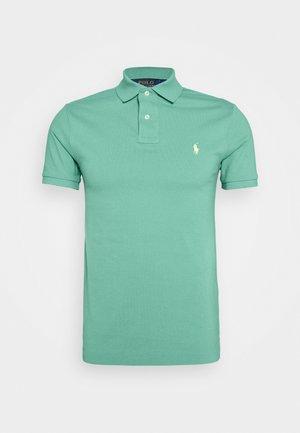 SLIM FIT MESH POLO SHIRT - Poloshirts - haven green