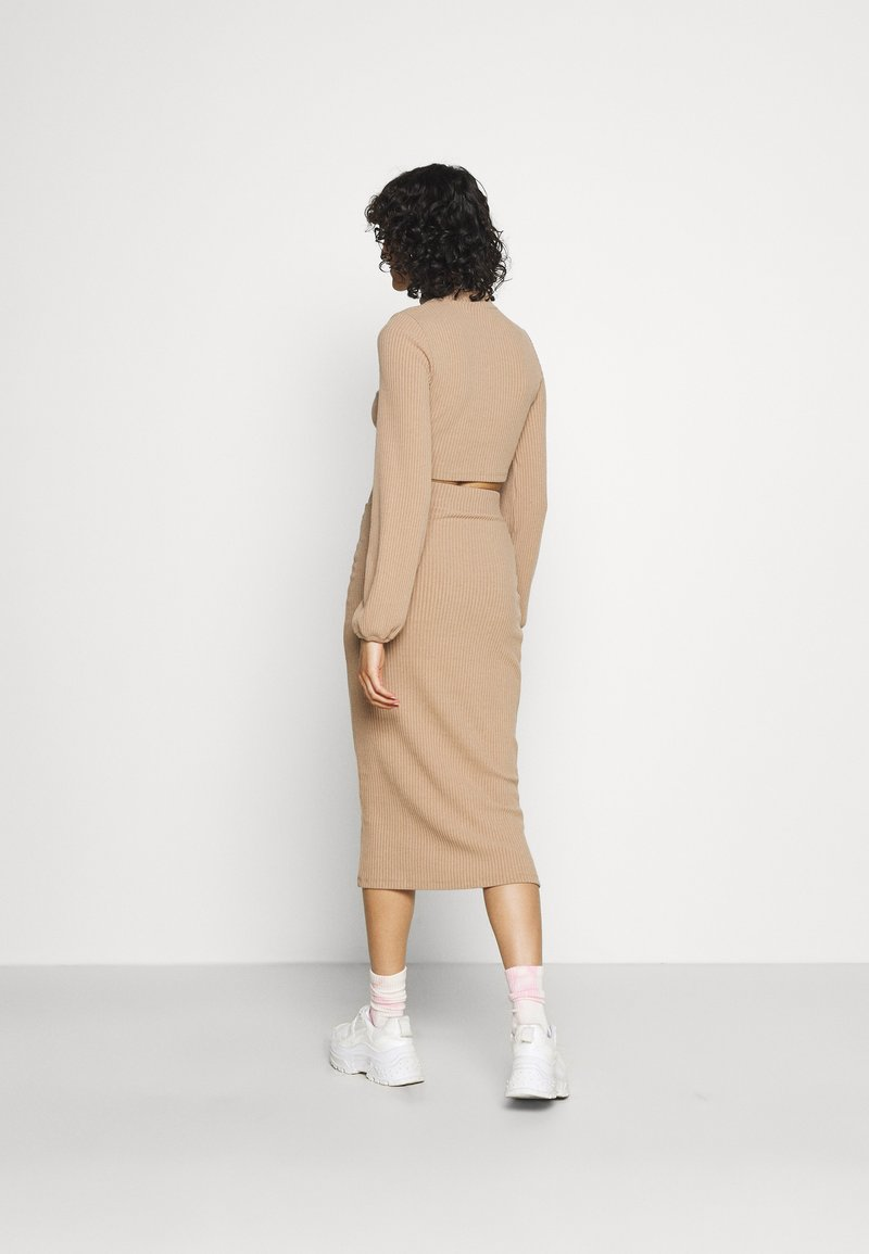 Nly by Nelly - CROPPED SKIRT SET - Pencil skirt - beige