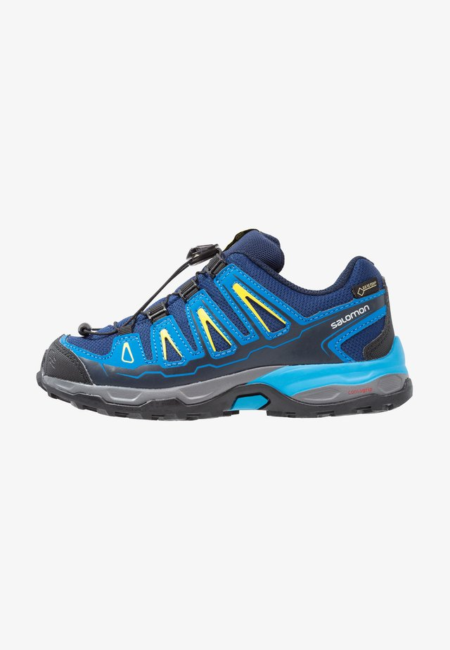 X-ULTRA GTX - Hiking shoes - blue depths/cloisonné/blazing yellow