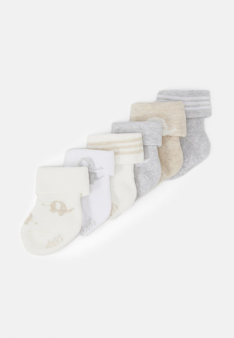Ewers - NEWBORN SOCKS ELEPHANT 6 PACK - Socks - grau/latte