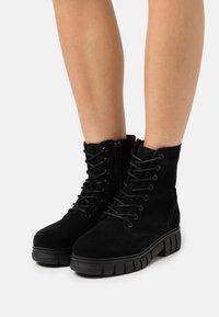 Vero Moda - VMEA BOOT - Lace-up ankle boots - black - 0