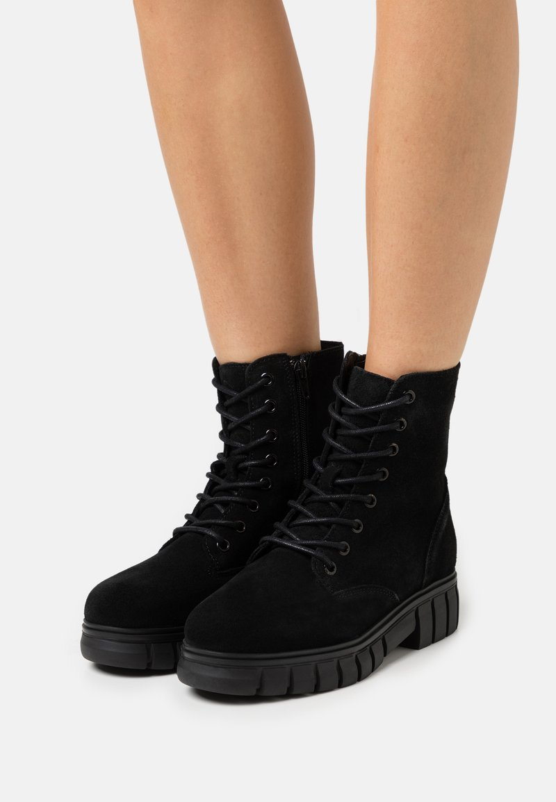 Vero Moda - VMEA BOOT - Lace-up ankle boots - black