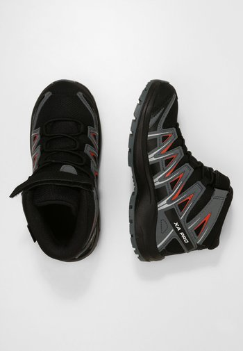 XA PRO 3D MID  - Hiking shoes - black/stormy weather/cherry tomato