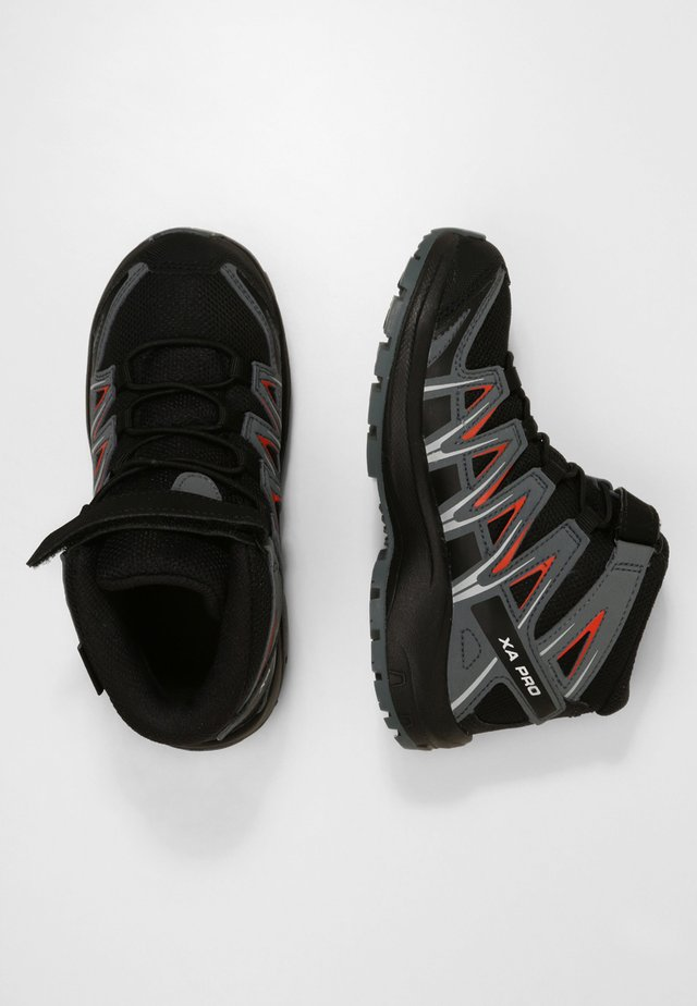 XA PRO 3D MID  - Chaussures de marche - black/stormy weather/cherry tomato