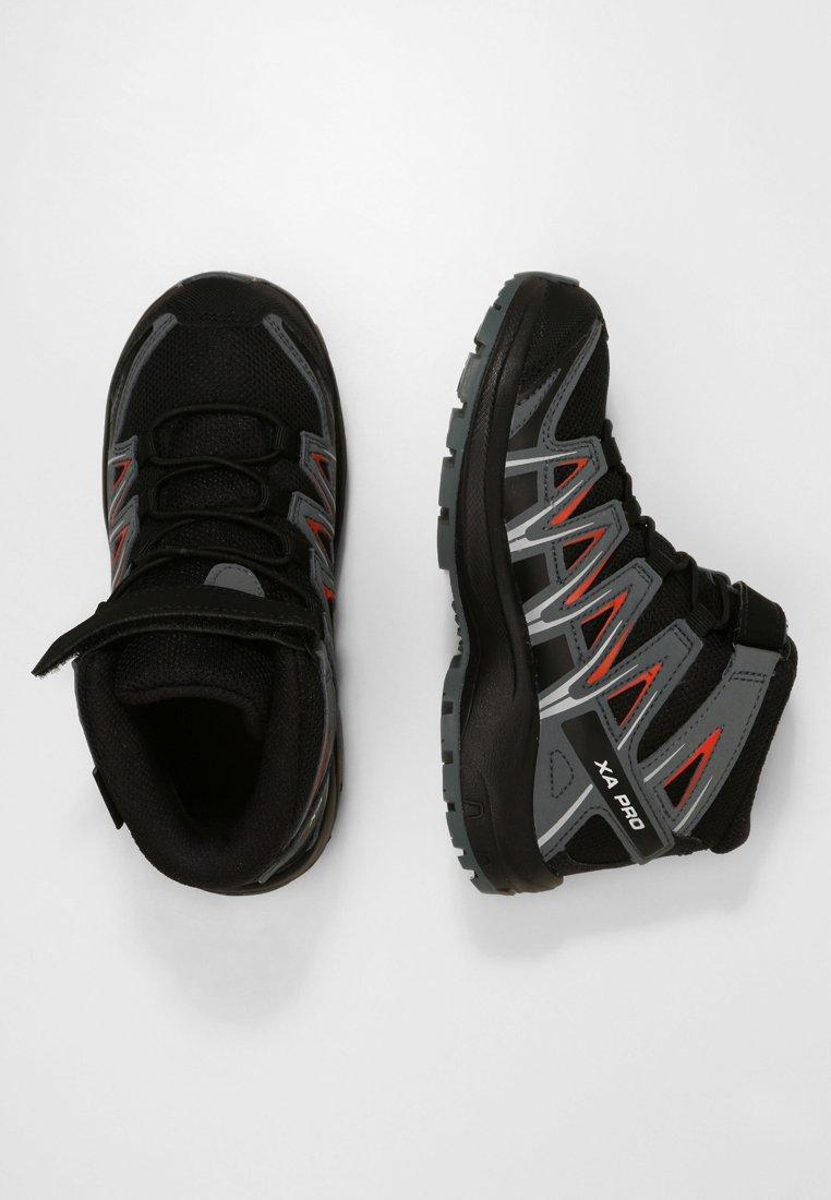 Salomon - XA PRO 3D MID  - Hiking shoes - black/stormy weather/cherry tomato