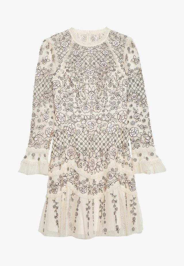 MARIGOLD ROSE MINI DRESS - Koktejlové šaty/ šaty na párty - champagne/monochrome