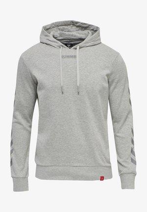 HMLLEGACY HOODIE - Luvtröja - grey melange