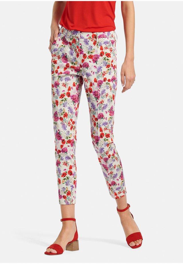 Pantalon classique - offwhite/multicolor