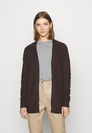 VMJENNY OPEN CARDIGAN  - Cardigan - chocolate plum