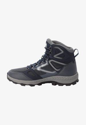 DOWNHILL TEXAPORE MID  - Hiking shoes - dark blue / grey
