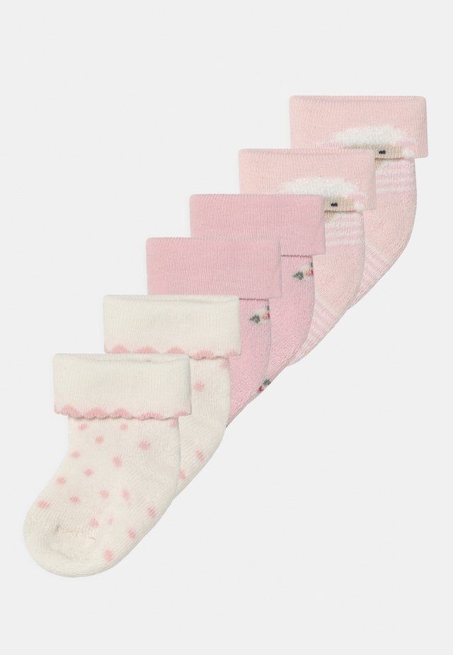 SHEEP 6 PACK - Calze - white/pink