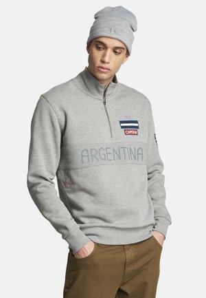 STEPHANE - Sweater met rits - medium heather grey