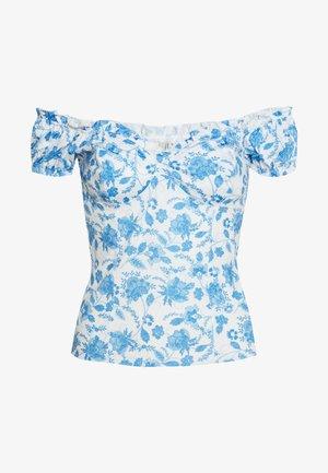 FLIRTY PRINT - T-shirt med print - blue