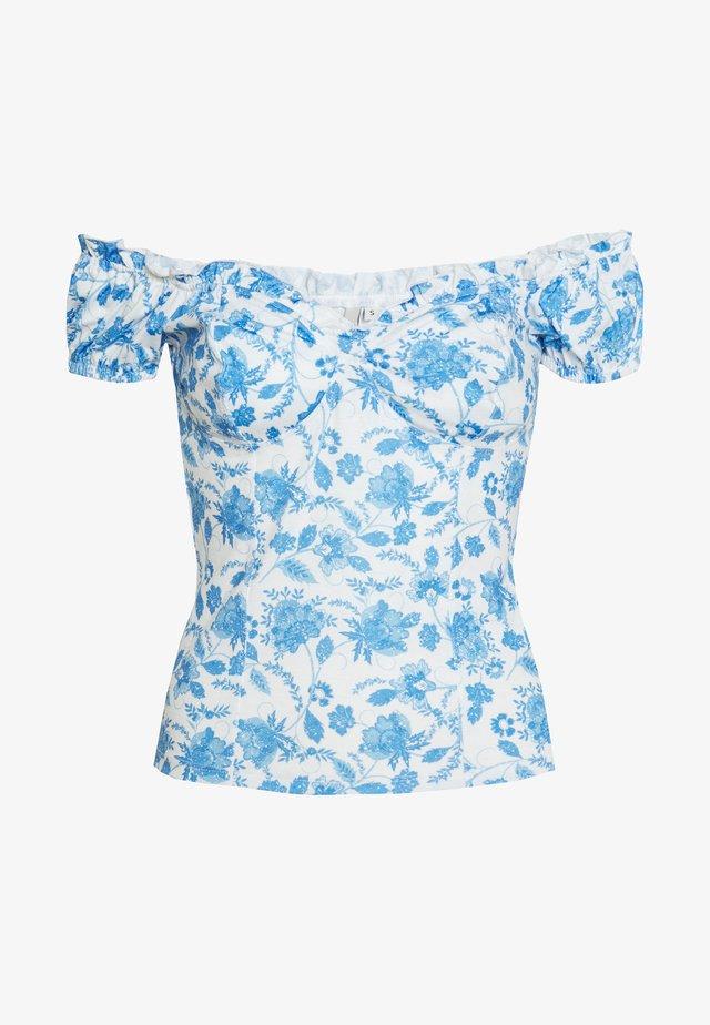 FLIRTY PRINT - T-shirt imprimé - blue