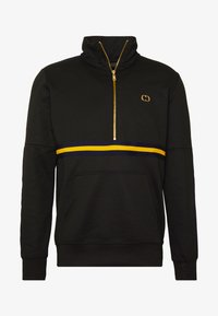 Criminal Damage - WISE PANEL - Sudadera - black/yellow - 3
