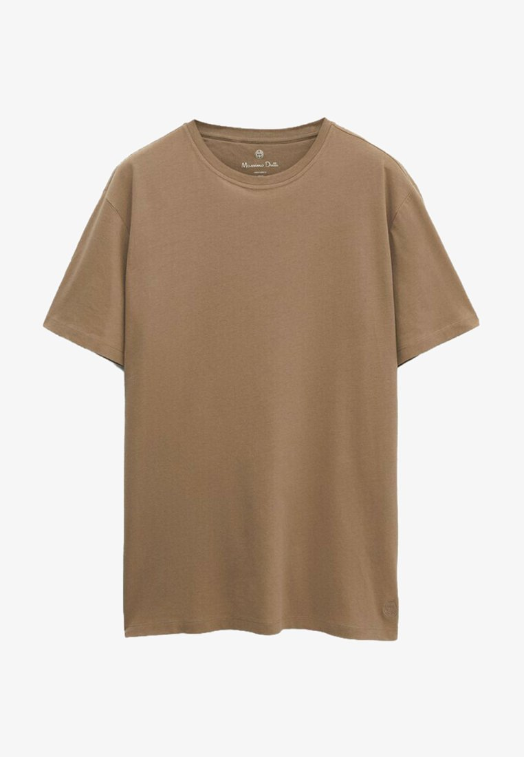 Massimo Dutti - Basic T-shirt - brown