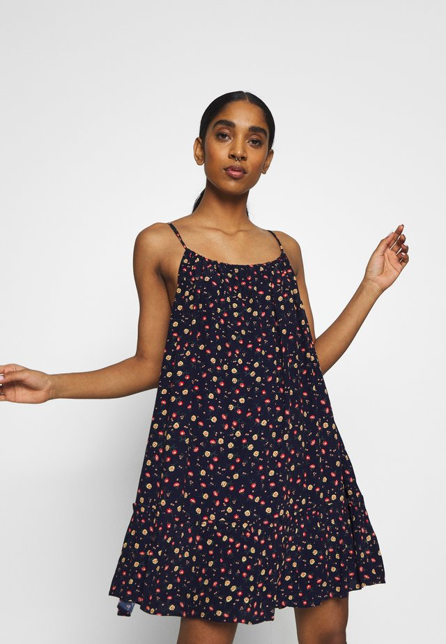 DAISY BEACH DRESS - Sukienka letnia - navy floral