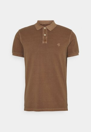 SHORT SLEEVE BUTTON - Polo shirt - tarpley brown