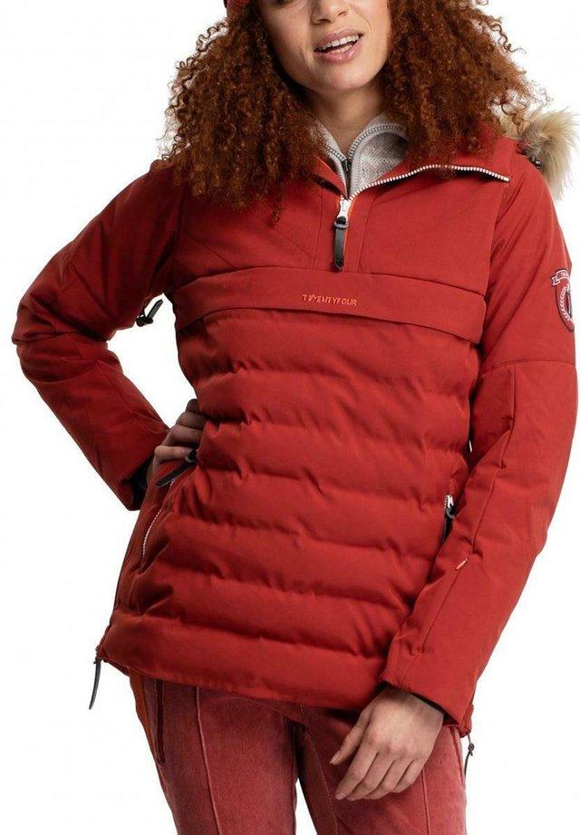 FINSE REPREVE ANORAKK D - Snowboard jacket - mørk rust