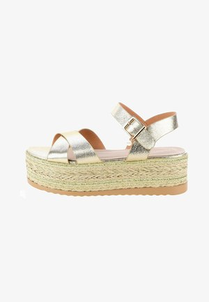 MORIMONDO - Platform sandals - gold