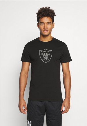 LAS VEGAS RAIDERS NFL REFLECTIVE PRINT TEE - Club wear - black