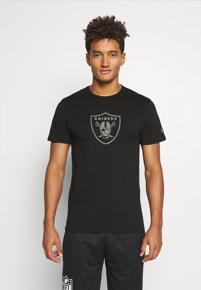 LAS VEGAS RAIDERS NFL REFLECTIVE PRINT TEE - Article de supporter - black