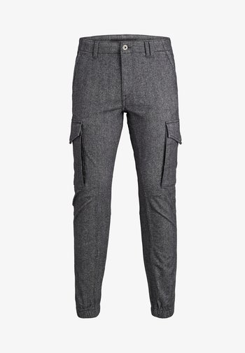 JJIPAUL JJFLAKE - Cargo trousers - grey melange