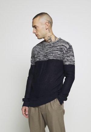 ROLAND - Pullover - navy/ecru twist