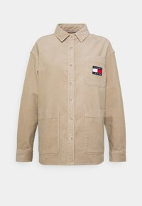OVERSIZED - Button-down blouse - soft beige