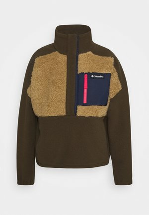 LODGE SHERPA - Fleece trui - olive green/beach