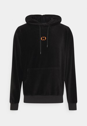 ESSENTIAL HOOD - Hoodie - black/orange