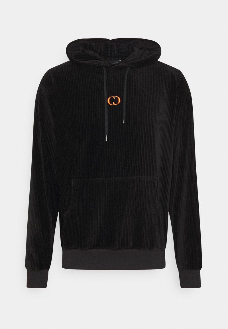 Criminal Damage - ESSENTIAL HOOD - Hoodie - black/orange