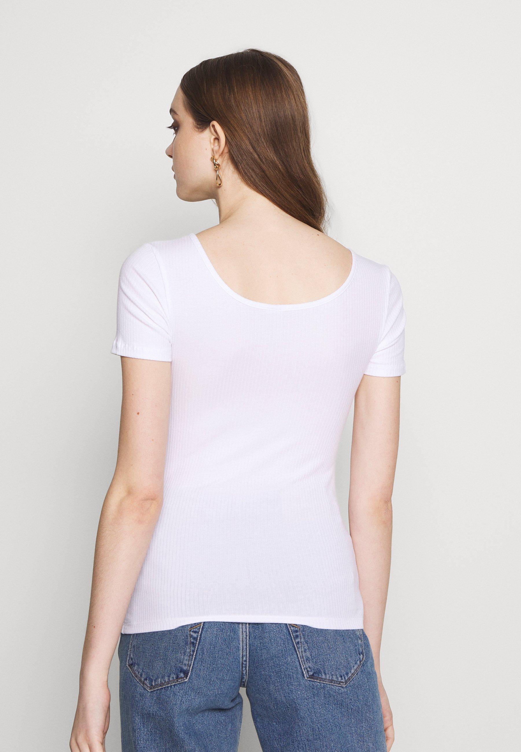 Pieces Pckitte - T-shirts Med Print Bright White/hvit