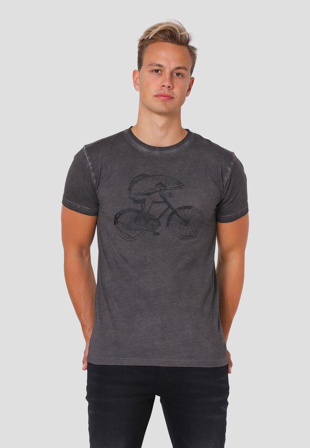 T-shirt print - grey night