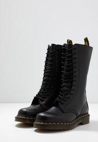 Dr. Martens - 1914 - Šněrovací vysoké boty - black smooth - 4