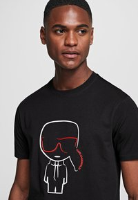 KARL LAGERFELD - IKONIK OUTLINE  - Print T-shirt - black - 4