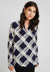 Masai - IBILY BLOUSE - Button-down blouse - navy - 0