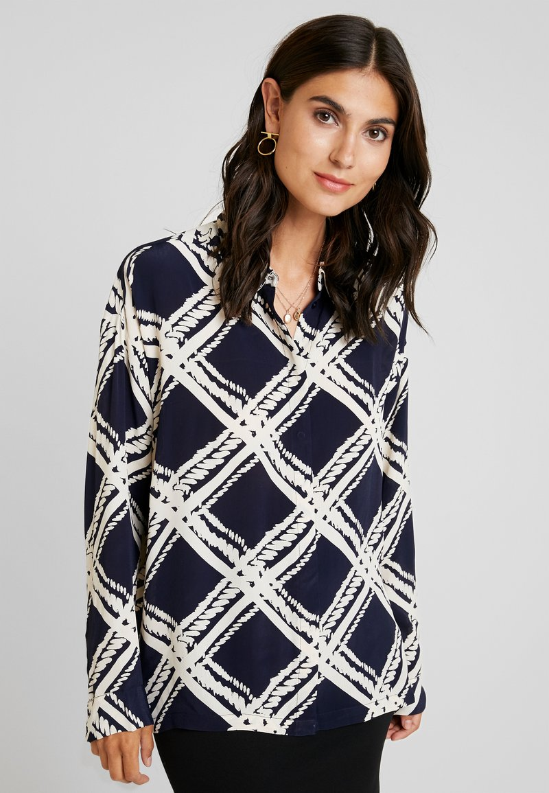 Masai - IBILY BLOUSE - Button-down blouse - navy