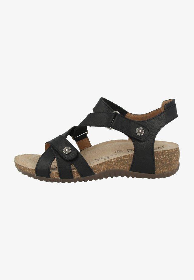 NATALYA  - Sandalen met sleehak - black