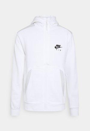 HOODIE - veste en sweat zippée - white/photon dust/black