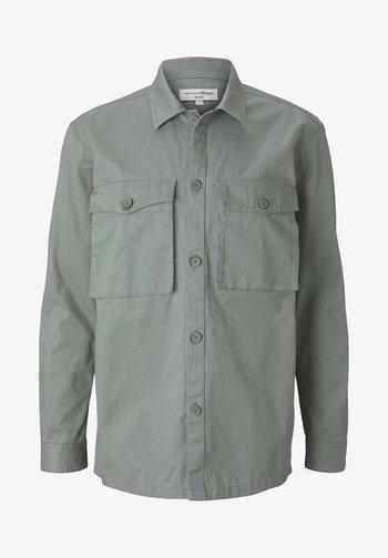 BASIC  - Camicia - greyish shadow olive