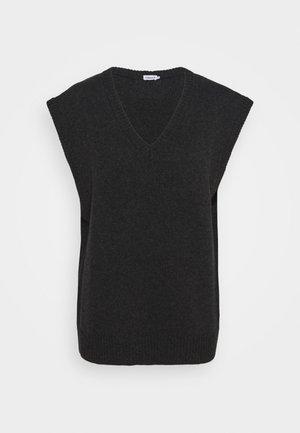 CORINNE VEST - Stickad tröja - dark grey