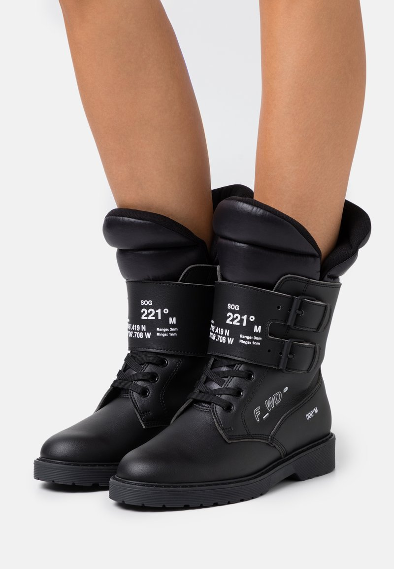 F_WD - Lace-up boots - black