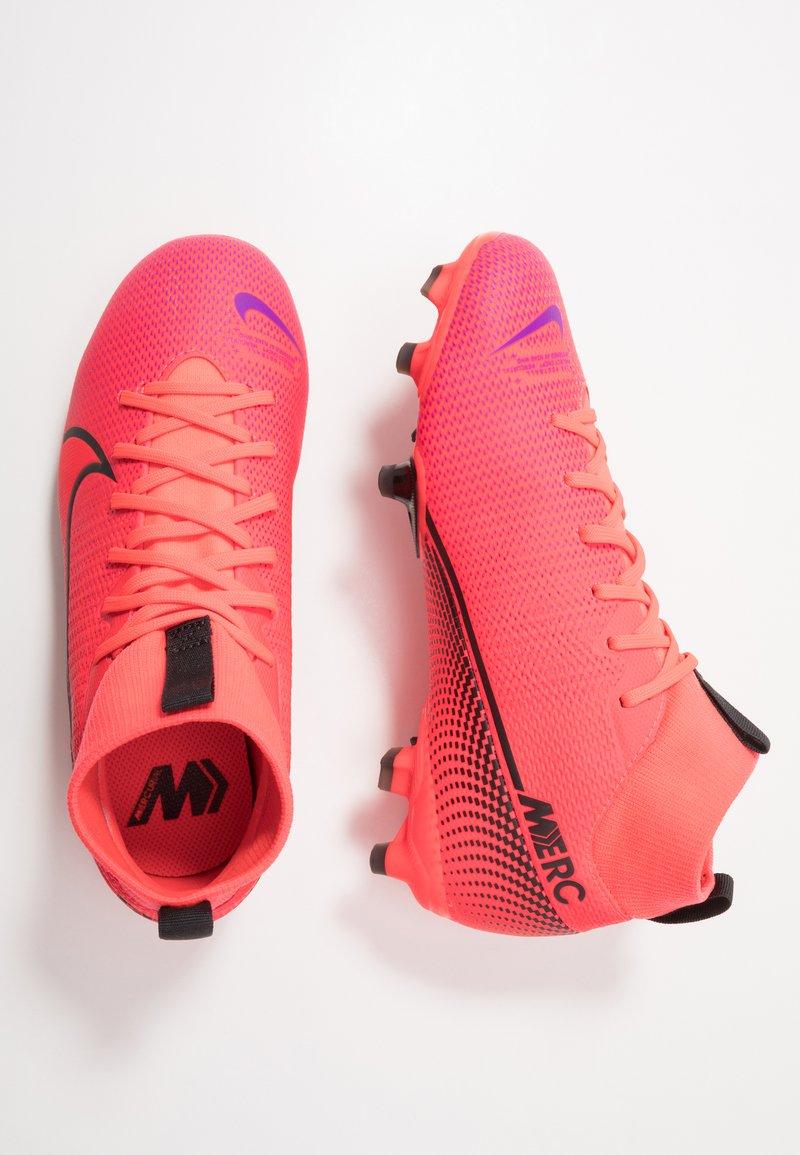 Nike Performance - MERCURIAL JR 7 ACADEMY FG/MG UNISEX - Moulded stud football boots - laser crimson/black
