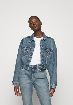 BUSBOROW - Denim jacket - blue dirty