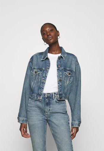 BUSBOROW - Denim jacket - blue dirty