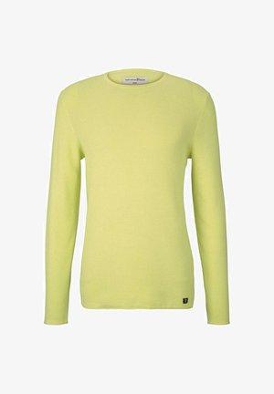 ZIGZAG STRUCTURED CREWNECK - Jumper - lemon cream melange
