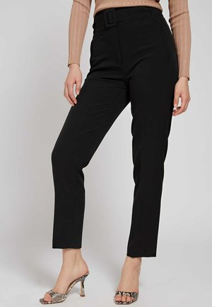 ZIGARETTEN GÜRTEL - Trousers - schwarz